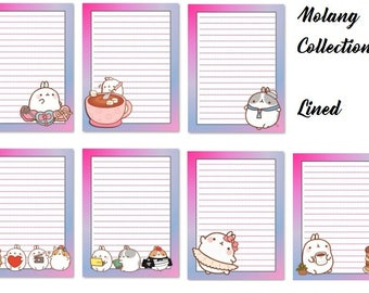 Molang Rabbit Writing Paper Digital Printable