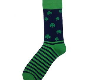 Sock 101 - The Finnegan Shamrock St. Patrick's Day Sock