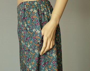 Floral pants, cotton pants, pajama pants, sleep pants, wide leg pants, pants with pockets, tall women pants, summer pants, pajama bottoms,