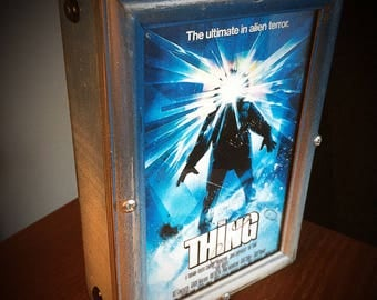 Custom framed The Thing wall hanging