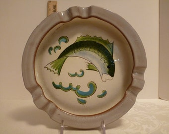 Stangl Fish 8'' Windproof Ashtray #3824