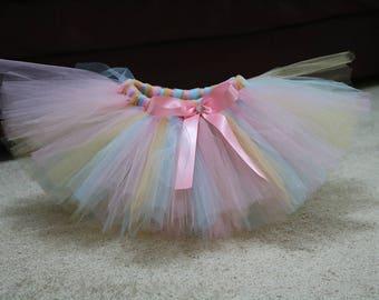 Pink, gold and Aqua tutu. Full tutu. Cake smash tutu. Baby girl tutu. Smash the cake tutu. Birthday tutu. Fully customizable!!!!