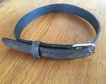 Repurposed louis vuitton dog collar