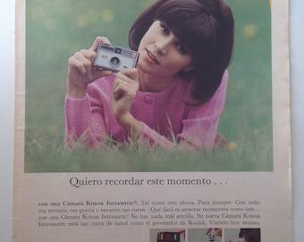 "Instamatic ""Kodak"" Camera, Vintage Ad (1967)"