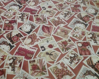 Sewing Themed Fabric 1 Yard Cotton
