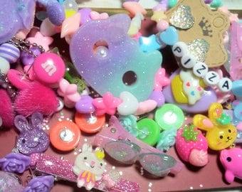 Kawaii Lucky Pack - Kawaii Mystery Grab Bag of Cute Goodies - Pastel - Fairy Kei - Cute Surprise Pack - Choose Your Size!