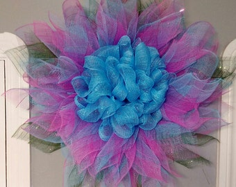 Flower Mesh Wreath