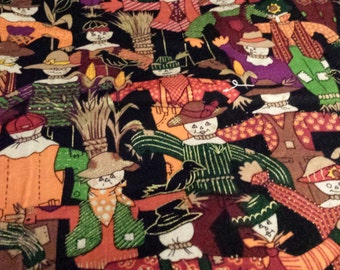 """Fall Scarecrow Fabric Remnant, 1/2yd x 44"""" W"""