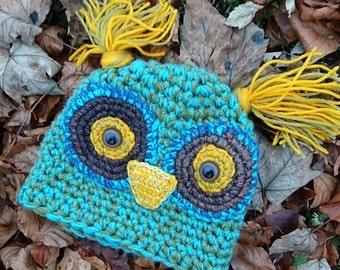 Owl hat / hat / Crochet hat / bird hat / owl / gift /