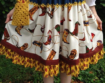 Fanciful Cowgirl skirt