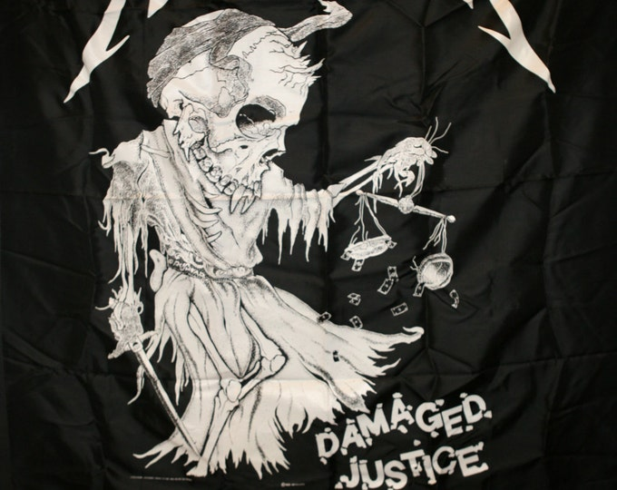 Metallica Damaged Justice 1989 vintage Flag