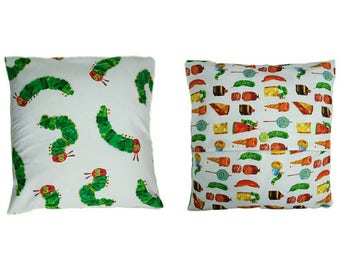 Hungry caterpillar cushion cover double sided ideal baby shower christening new baby
