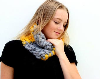 Yellow Sorbet! Chunky crochet snood / scarf