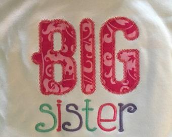 Little Big Sister Appliqué Shirt