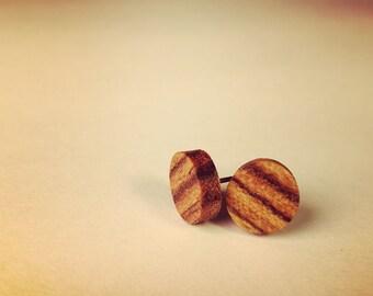 Cocobolo Wood Post Earrings