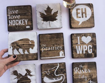 Manitoba Coasters set of 9