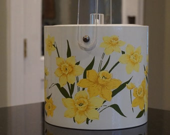 Daffodil Ice Bucket/ Vintage IceBucket/ Spring Party/ Barware