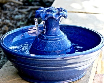 Cat Fountain, Cat Water Fountain, Ceramic Cat Fountain