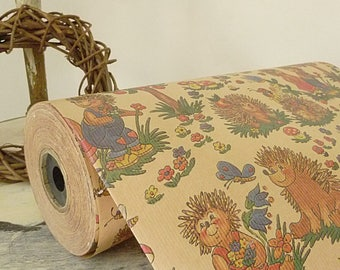 Wow...large roll of vintage wrapping paper, old stock....CHARMANT!