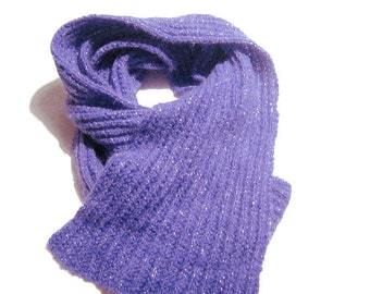 Knitted scarf, Fashion scarf, Purple Ladies scarves, Handmade scarf, Winter accessories, Sciarpa