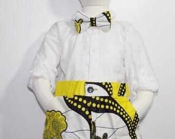 Toddler pants, Boy pants, African pants-Yellow & Black
