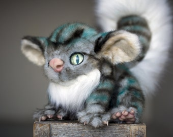 Cheshire Cat Inspired Creature - OOAK doll