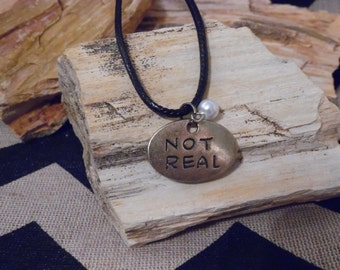 Real/ Not Real Katniss Necklace (Inspired by the Hunger Games Trilogy) DEUX*