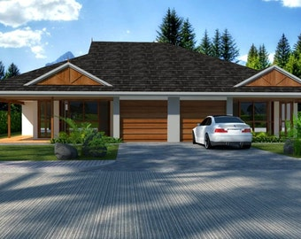 230 m2 | 6 Bed duplex design | 3 x 3 Bedrooms duplex plans | duplex | modern 6 bedroom duplex plans | Duplex Plan | australian duplex design