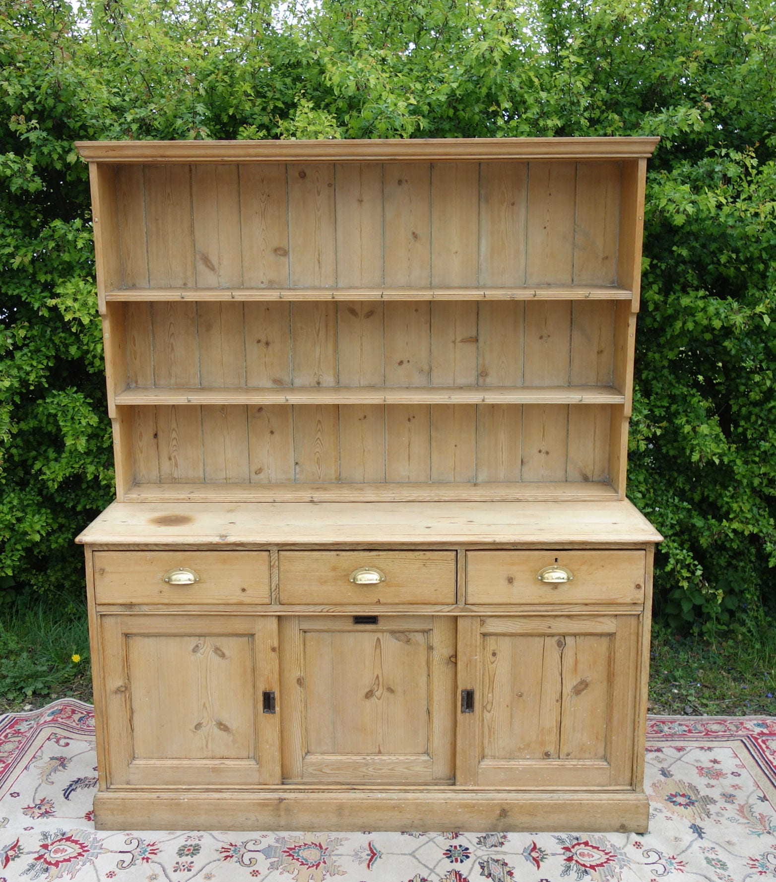 Old Victorian Pine Dresser Antique Pine Kitchen Dresser