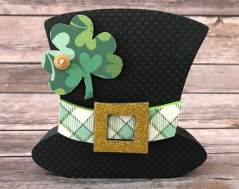 "St. Patrick's Day Leprechaun Hat - Interchangeable ""O"" Wood Decor"