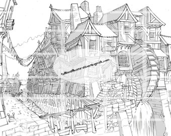 Wheel House Street ~ Digital Print