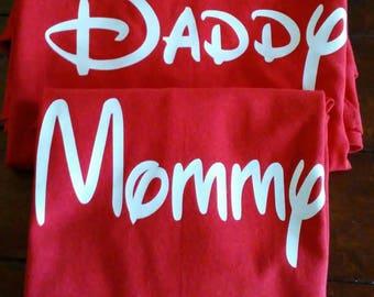 Disney lettering family  shirts