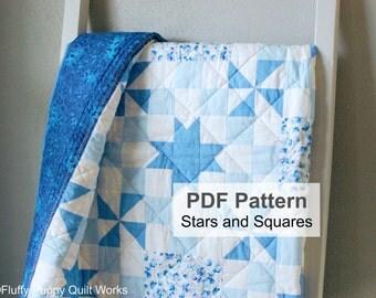 PDF Quilt Pattern, Quilt Pattern, Lap Quilt Pattern PDF, Quilt Pattern PDF, Star Quilt Pattern, Pinwheel Quilt Pattern