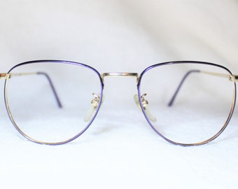 designer eyewear ukt0  Vintage Liz Claiborne Womens Eyeglass Frame, New Old Stock, Goldtone and  Purple Eyeglass Frame, NOS Designer Eyeglass Frame, 52-18-140, It 2