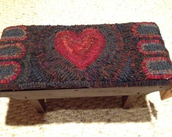 Heart Rug Footstool