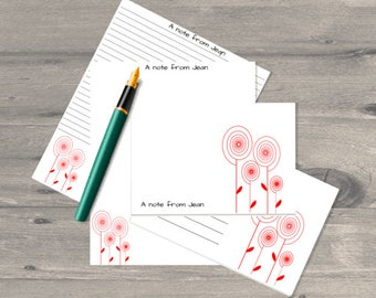 ranunculus personalised letter writing set letter writing paper set letter writing stationary letter writing paper correspondence cards