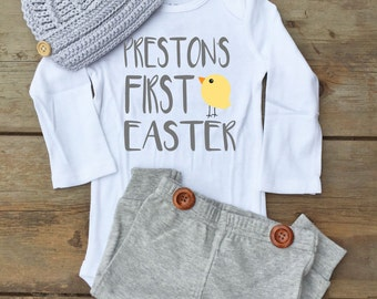 Baby Boy First Easter Bodysuit - First Easter Outfit for Baby Boy - Baby Boy First Easter Outfit - Easter Bodysuit for Baby Boy