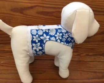 Blue Hawiian Dog Harness Vest