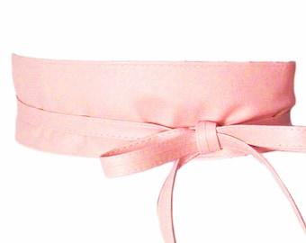 Modern Pink Retro Wide Wrap Belt