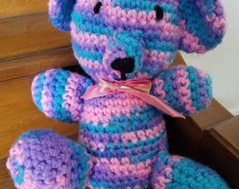 Hand crochet bear