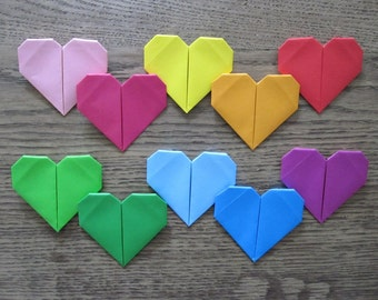 set of 10 Origami-Hearts