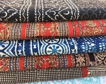 5 Pcs Vintage Kantha Quilt Lot Kantha Throw Best Quality Kantha Bedspread Reversible Blanket V1725A