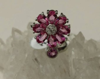 Pink Topaz Party Ring