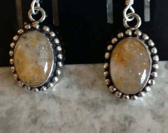 CLEARANCE *Golden Rutilated Quartz Earrings