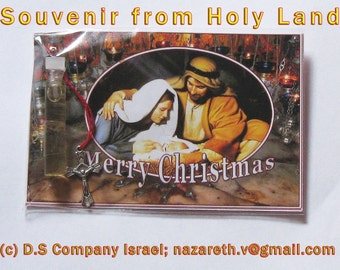 Souvenir the Christmas,Souvenirs from Jerusalem, Religious souvenirs from  Holy Land ,postcards with blessings from Holy Land