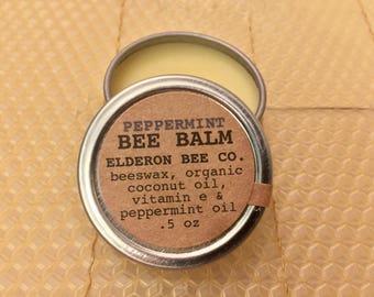 PEPPERMINT BEE BALM // 100% natural // multipurpose balm // beeswax balm