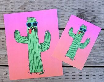 cacti guy art print
