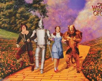 Wizard Of Oz Yellow Brick Road  Rare Vintage Poster