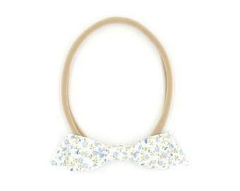Forget-Me-Not Floral Classic Bow // Headband or Clip