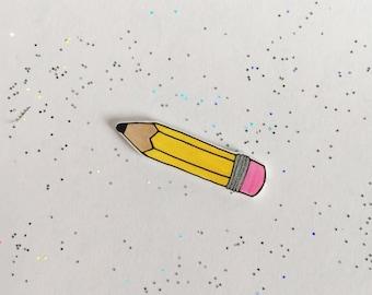 Pencil Pin [brooch lapel pin]
